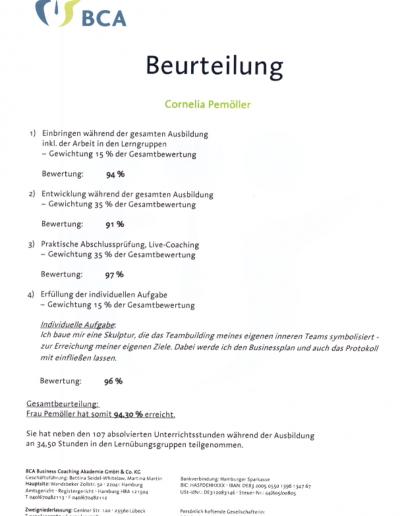 Zertifikat - Coach (systemisch) BCA