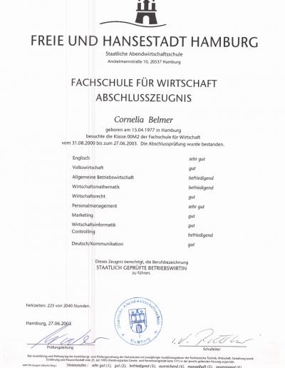 Zertifikat - Betriebswirtin_
