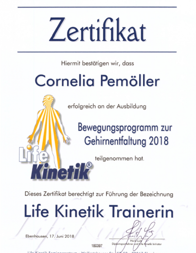 Zertifikat - Trainerin (Neurowissenschaften)
